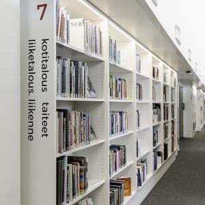 Kirjastonhyllyt